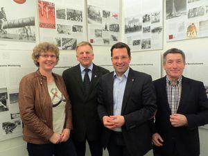 Der CDU-Kreisvorsitzende Kai Seefried mit seinen Stellvertretern Silja Köpcke, Jürgen Deden und Gerhard Behrmann
