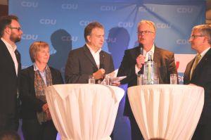 von links nach rechts: T. Vagts, H. von Limburg, J. Nordlohne. M. Eble. M. Roesberg