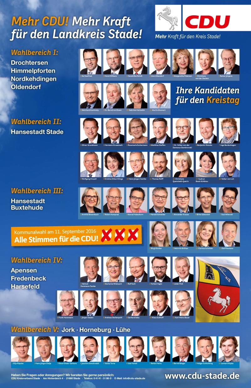 CDU Kreistagskandidaten
