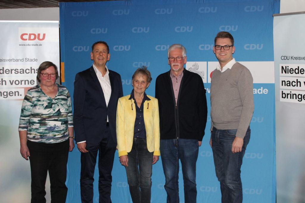 Der Vorstand der CDU Lühe stellt sich neu auf
