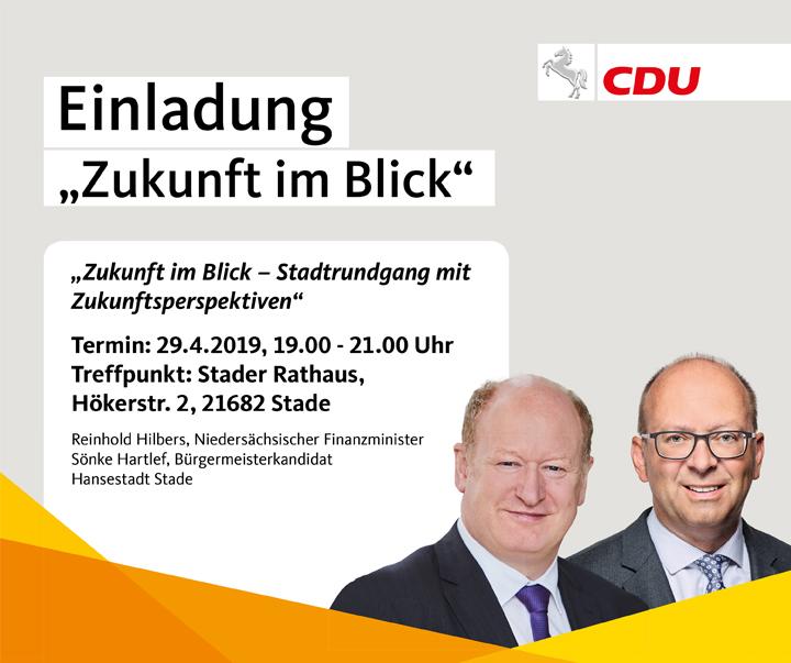 """Zukunft im Blick"""" – Stadtrundgang mit dem Niedersächsischen Finanzminister"""