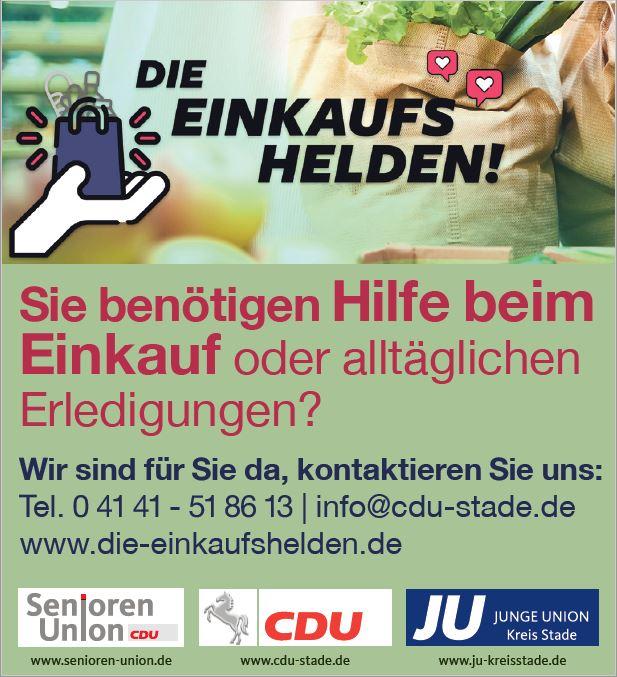 Die Einkaufshelden – Junge Union kauft für Sie ein!