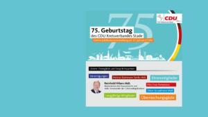 """<strong>Online Jubiläumsempfang des CDU Kreisverbandes im Rahmen der """"Woche der CDU 2021"""" mit Finanzminister Reinhold Hilbers</strong>"""