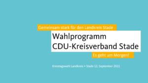 Gemeinsam stark – Das Wahlprogramm der CDU