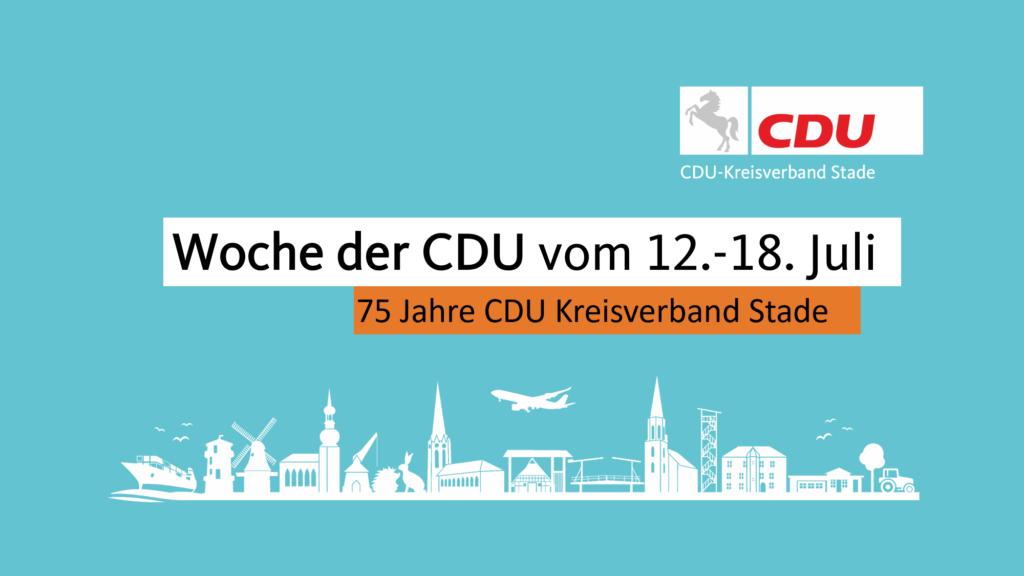 Die Woche der CDU vom 12.-18. Juli 2021