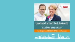 <strong>Landwirtschaft hat Zukunft – Kai Seefried lädt zur Diskussionsveranstaltung mit Ministerin Barbara Otte-Kinast</strong>